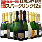 端数在庫一掃 スパークリングワイン12本セット wine set sparkling