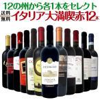 赤ワイン12本セット wine set 12の州から各1本をセレクト イタリア大満喫 Italy