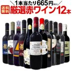 厳選赤ワイン12本セット wine set 1本あたり665円 税別 採算度外視の大感謝