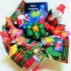 キャンディブーケ 手持ち なかよし クリスマス サンタ&スノーマン グリーン   お菓子 詰め合わせ キャンディーブーケ