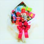 キャンディブーケ 手持ち クリスマス Sサイズ スノーマン グリーン   お菓子 詰め合わせ キャンディーブーケ
