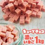 キューブチョコ 濃いいちご 1kg 濃いイチゴ 製菓用 チョコレート 1キロ 製パン パン材料 Cube Choco strawberry パン用 いちごチョコチップ 春色 ピンク pink