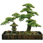 幹は自然木の松を使用。職人が創る人工観葉植物の大型盆栽です。