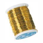 ワイヤー 糸針金♯28 ゴールド 1巻46m 12巻セット 資材 花材 道具 手芸用品 フラワーアレンジメント リボンワーク ワイヤリングブーケ