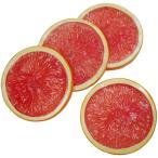 【食品サンプル】グレープフルーツ・スライス・直径7.5cm・8個セット(1袋4個×2袋)(ルビー/果物/フルーツ)(フェイクフード/食品模型/オブジェ/装飾)