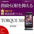 ラスタバナナ TORQUE X01 KYF33 フィルム 指紋・反射防止(アンチグレア) トルク X01  液晶保護フィルム T813TX01