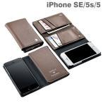iPhone SE ケース iPhone5s iPhone5 ケース 手帳 手帳型 横 アイフォンse アイフォン5s アイフォン5 ケース simplism BillFold / ブラウン