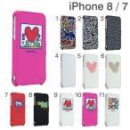 手帳型 横 ケース iphone7 アイフォン7 アイホン7 ケース カバー Keith Haring キース・へリング Collection Flip Cover