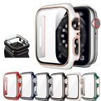 Apple Watch Series 7 ケース ガラスフィルム ケース カバー 全面保護 液晶カバー アップルウォッチ シリーズ7 41mm/45mm用 ハードケース 保護ケース フィル