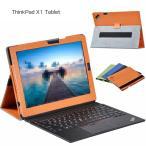 ThinkPad X1 Tablet ケース 手帳型 方手持ちハンドル スタンド変形 Lenovo レノボ シンクパッド X1 手  thinkx1-01-l70210