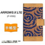 docomo ARROWS X LTE F-05D スマホケース手帳型 YA948 和猫04