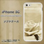 Yahoo!スマホケース専門店 けーたい自慢アイフォン5C iPhone5c TPU ソフトケース やわらかカバー 1159 思い出のバラ(大) 素材ホワイト UV印刷