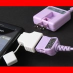 変換アダプタ スマホ Android アンドロイド 充電 FOMA 3G変換 IADD-SP01WS  メール便送料無料