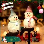 ソーラーライト クリスマス飾り サンタクロース モチーフライト ソーラー充電 防水 屋外 置物ライト 自動点灯 プレゼント2本セット ランダム (サンタさん)