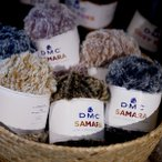 SAMARA サマラ DMC 【KY】 ファー毛糸 ファーヤーン フェイクファー 編み物 超極太 毛糸