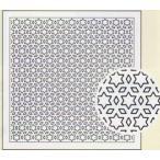 一目刺しの花ふきん布パック 星と三つ菱(白) H-1020 オリムパス 刺し子