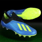 ショッピングサッカースパイク アディダス エックス 18.1-ジャパン HG/AG フットボールブルー×ソーラーイエロー 【adidas|アディダス】サッカースパイクap9937