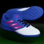 ジュニア エース 17.4 TF J ブルー×ショックピンクS16 【adidas|アディダス】ジュニアトレーニングシューズba9245