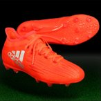 ジュニア エックス 16.1 FG/AG J ソーラーレッド×シルバーメット 【adidas|アディダス】サッカージュニアスパイクbb3859
