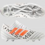 ジュニア ネメシス メッシ 17.1 FG/AG J  ランニングホワイト×ソーラーオレンジ 【adidas|アディダス】サッカージュニアスパイクby
