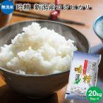 【新米】お米 20kg 送料無料 無洗米 吟精 新潟産コシヒカリ 20kg(5kg×4) 令和2年産