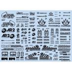 スポンサーロゴデカール02S ブラック 1枚入 プラモデル用デカール SLD02S-BK 新品ハイキューパーツ   HiQparts プラモデル 改造