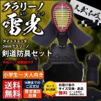 剣道 防具 5ミリ「クラリーノ雷光らいこう」タイトステッチ セット SET1021