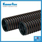 【カナフレックス】集排水管 高密度ポリエチレン管 カナプレスト 有孔管 φ200×5m 呼称200径
