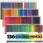 136色セット 色鉛筆 カラーペン 大人の塗り絵 スケッチ イラスト 落書き 手帳 ノード子供用 プレゼント 入園・入学お祝い