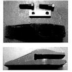 【ボルト式】 ツース(爪・ポイント)セット クボタ KH1 など 専用 *ボルト2個、ツースシム3枚、キープレートナット1枚 付