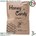 ギフト Honey Candy プロポリス 70g×3P カルナ 福岡 国産アカシア蜜使用 着色料・香料不使用 手作りあめ はちみつ プロポリス原液 送料無料