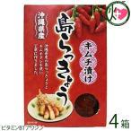 沖縄県産 島らっきょう キムチ漬け 140g×4箱 沖縄県産の島らっきょうをキムチタレを使い丁寧につくりました お酒のおつまみに  送料無料