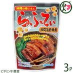 沖縄の味じまん らふてぃ ごぼう入 165g×3袋 沖縄 人気 定番 土産 料理  送料無料