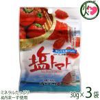 塩トマト 30g×3P 送料無料 夏バテ・熱中症対策に リコピン 1000円ポッキリ