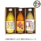 100%果汁贅沢セット シークワーサー パイナップル パッションフルーツ 果汁100% 360ml各1本 ギフト 沖縄農園 贈答品 お中元  送料無料