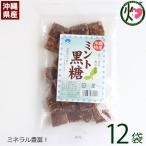 ミント黒糖 (加工) 140g×12袋 わかまつどう製菓 沖縄 人気 土産 定番 お菓子  送料無料
