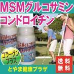 【送料無料】お得な2本セット♪フシブシに必要なグルコサミン、コンドロイチン、コラーゲンなどがたっぷり!MSM入グルコサミン