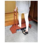 玄関用ステップ 手すり付き ブラウン 組立式 1台 送料無料 玄関の段差を小さく 踏み台