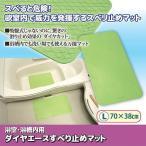 ダイヤエースすべり止めマット グリーン L70×38cm 1個 ф 浴室内で威力を発揮