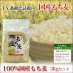 雑穀 麦 100%国産もち麦 3kgセット