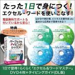 パソコン 教材 簡単 1日で習得!らくらく「エクセル&ワードマスター」DVD4枚+タイピングガイド(DL版)