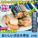 さば 鯖 サバ 缶詰 国産さば  話題国産さば使用「おいしいさば水煮缶」24缶