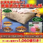 節電 冷え 腰 あったか 「蓄熱充電式新カバー付エコ湯たんぽ」2個セット