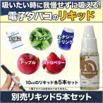 たばこ 禁煙 eGo-T 「電子タバコスターターセット」別売リキッド5本セット