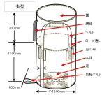 コンテナバック002(フレコンバック)1tタイプ丸型排出口なし(10枚入)