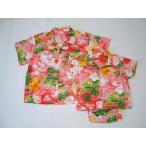 アロハシャツ子供服 (ピンク)