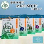 海の野菜スープ MISO SOUP 送料無料 (5食セット ※ポスト投函) ムラカミ 気仙沼 仙台みそ 南三陸ねぎ わかめ ふのり とろろ めかぶ まつも 朝食 みそ汁 味噌汁