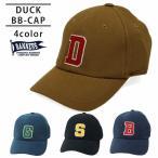 帽子 メンズ キャップ 野球帽 シンプル BBキャップ ダック DUCK ワッペン ロゴ PENNANTBANNERS-009