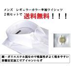 白2枚セット メンズ 半袖 シャツ レギュラー カッターシャツ ビジネス 冠婚葬祭