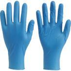 TRUSCO 使い捨て極薄手袋ニトリル製粉付き100枚入Mブルー
